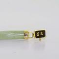 Dazzling Ladies 14K Yellow Gold Chinese Green Jade Bracelet