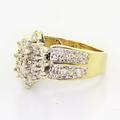 Beautiful Vintage Ladies 10K Yellow Gold Round Diamond Cluster Right Hand Ring