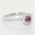 Beautiful Ladies 14K White Gold Antique Vintage Diamond Hand Engraved Ring