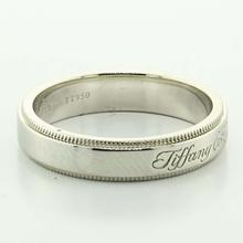 Authentic Tiffany & Co Ladies Notes 4mm Platinum PT950 Wedding Band Ring Size 6