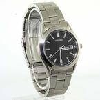 Handsome Men's Seiko Silver Tone Stainless Steel Watch #SGF719 Black Face