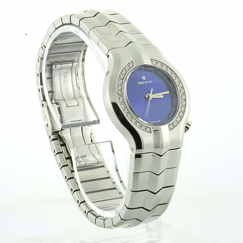 c26f7e863af2 Authentic Tag Heuer Ladies Alter Ego Diamond Blue Faced Stainless Steel  Watch