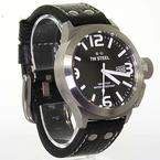 Authentic TW Steel Men's Stainless Steel Model TW2 Watch Black Leather Band