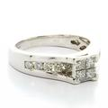 Beautiful Ladies 14K White Gold  Princess Round Diamond Engagement Ring Setting