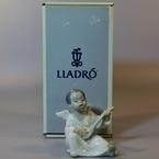 Lladro Angel Playing Guitar Porcelain Figurine
