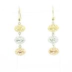 Beautiful Ladies 14K Rose White Yellow Gold Chandelier Dangling Earring