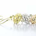 Beautiful Ladies 14K Rose White Yellow Gold Chandelier Dangling Earring