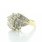 Magnificent Ladies Vintage 14K Yellow Gold Diamond Cluster Cocktail Ring