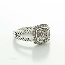 Authentic David Yurman Silver Albion Diamond Silver Ice Collection Ring