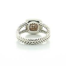 Authentic David Yurman Silver Albion Diamond Silver Ice Collection Ring