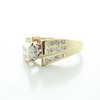 Dazzling Vintage ladies 10K Yellow Gold Marquise Diamond  Engagement Ring