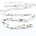 Dazzling Ladies 14K White Gold Round Diamond Religous Cross Pendant Necklace