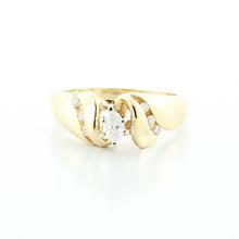 Dazzling Ladies Vintage 14K Yellow Gold  Marquise Diamond Engagement Ring
