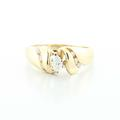 Dazzling Ladies Vintage 14K Yellow Gold  Marquise Diamond Engagement Ring