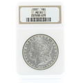 Spectacular 1887 Morgan Silver Dollar Coin NGC Certified Grade Mint State 63