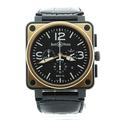Authentic Bell and Ross Automatic Chronograph Rose Gold Mens Watch BR0194 Boxed