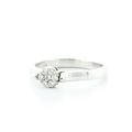 Magnificent Ladies 14K White Gold Round Diamond Cluster Flower Ring Jewelry