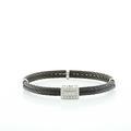 Stunning Charriol Ladies Celtic Noir 18K White Gold Diamond Bangle Bracelet