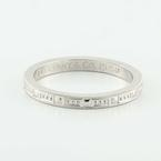 Authentic Tiffany & Co Platinum 3mm  Wide Wedding Band Ring