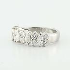 Spectacular Ladies Platinum Marquise Round Diamond Wedding Band Ring