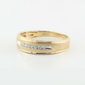 Stunning Vintage 10K Yellow Gold Round Diamond Wedding Band Ring