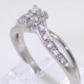 Spectacular Ladies 10K White Gold Round Diamond 0.25CTW Engagement Ring Jewelry