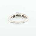 Dazzling Ladies 14K White Gold Round Three Diamond Engagement Ring