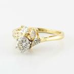 Beautiful Vintage Ladies 14K Yellow Gold Round Diamond Engagement Ring