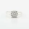 Dazzling Ladies 14K White Gold Round Diamond Solitaire Engagement Ring