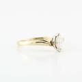 Dazzling Vintage  14K Yellow Gold Marquise Diamond Solitaire Engagement Ring