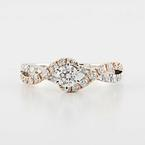 Spectacular Ladies 14K Whit Rose Gold Round Diamond Engagement Ring