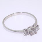 Dazzling Ladies 10K White Gold Round  Diamond Engagement Ring
