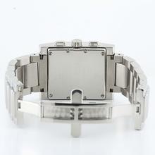 Authentic Men's Gucci 7700 Chrograph Stainless Steel Diamond Bezel Watch