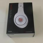 Genuine Monster Beats By Dr Dre Studio Over Ear Music Headphones White