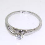Exquisite White Gold 14k Diamond Ladies Wedding Ring