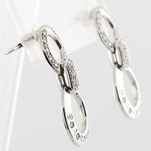 European  Designer BARAKA 18K Gold Earrings with Diamonds