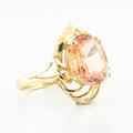 Gorgeous 14K Yellow Gold Yellow Quartz Cocktail Ring