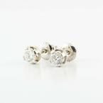 Elegent 14K White Gold 0.50 Carat Diamond Stud Earrings