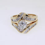 Mesmerizing 14K Yellow Gold Diamond Wedding Set Jewelry