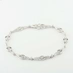 Bright Robbins Bros 14K White Gold Fashion Diamond Bracelet