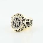 Striking 14K Yellow Gold Diamond Custom Champgionship New York Yankees Ring