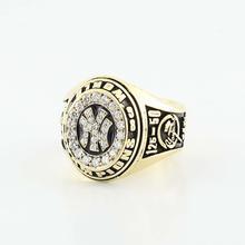 Striking 14K Yellow Gold Diamond Custom Champgionship New York Yankees Ring