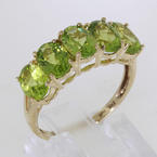 Charming Ladies 10K Yellow Gold Peridot Ring Jewelry