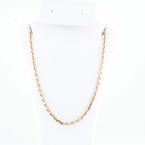"Beautiful 14K Solid Rose Gold 15.5"" Custom Chain Necklace"