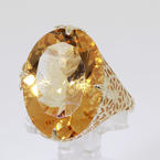 Mesmerizing 14K Yellow Gold Citrine Cocktail Ring Jewelry