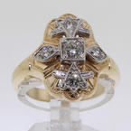 Heirloom-Quality Ladies 14K Yellow Gold Diamond Ring Jewelry