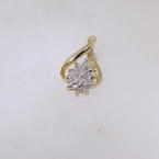 Sparkling Ladies 10K Yellow Gold Diamond Pendant Jewelry