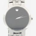 Authentic Men's Movado Stainless Steel Black Face Faceto Watch Model 84 45 1891