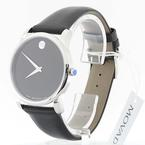 Handsome Movado Museum Leather Mens Watch 0606502