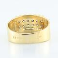 Striking 18K Yellow White  Gold Round Diamond Mens Ring Band